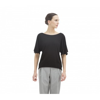 Top viscose manches courtes Noir Repetto W0583