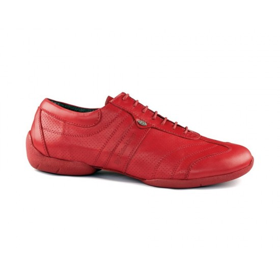 Chaussures PD Pietro Street Cuir Rouge Portdance