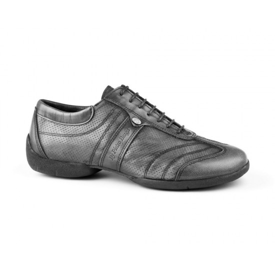 Chaussures PD Pietro Street Cuir Gris Portdance