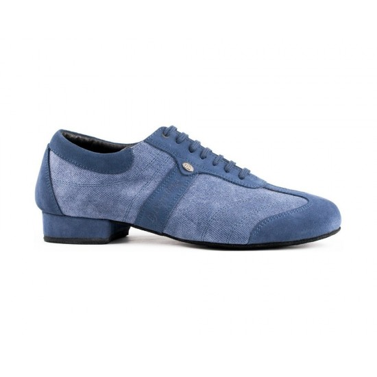Chaussures PD Pietro Street Blue Denim Suede Sole Portdance
