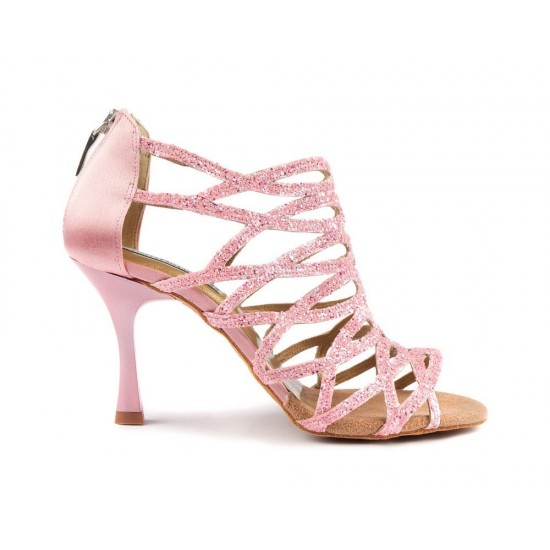Chaussures PD803 PINK GLITTER AND SATIN Portdance