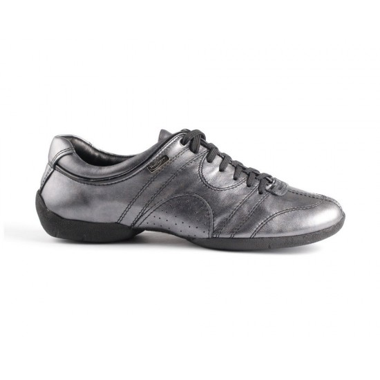 Sneakers cuir PD CASUAL 001 BLACK SILVER Portdance