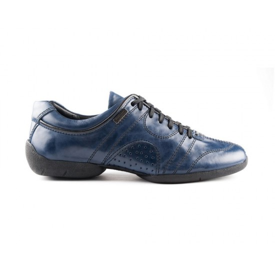 Sneakers cuir PD CASUAL 001 BLUE Portdance