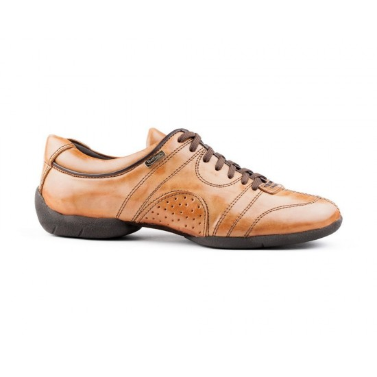 Sneakers cuir PD CASUAL 001 CAMEL Portdance