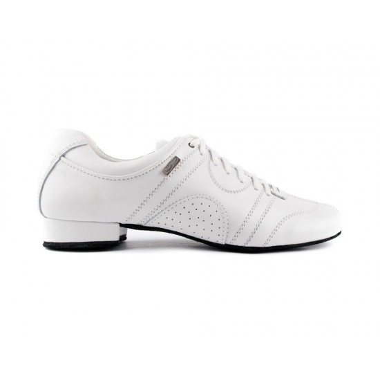 Chaussures cuir PD CASUAL 001 WHITE SUEDE SOLE Portdance