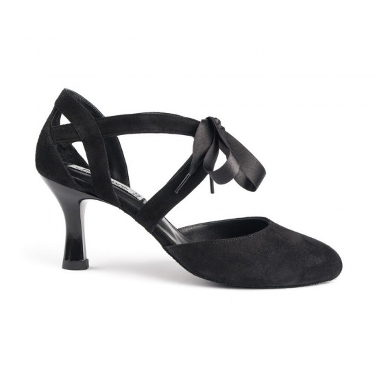 Chaussures cuir PD125 BLACK NUBUCK Portdance