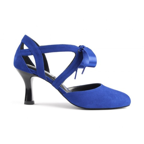 Chaussures cuir PD125 BLUE NUBUCK Portdance