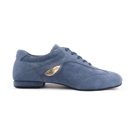 Chaussures Denim PD07 FASHION BLUE SUEDE SOLE Portdance