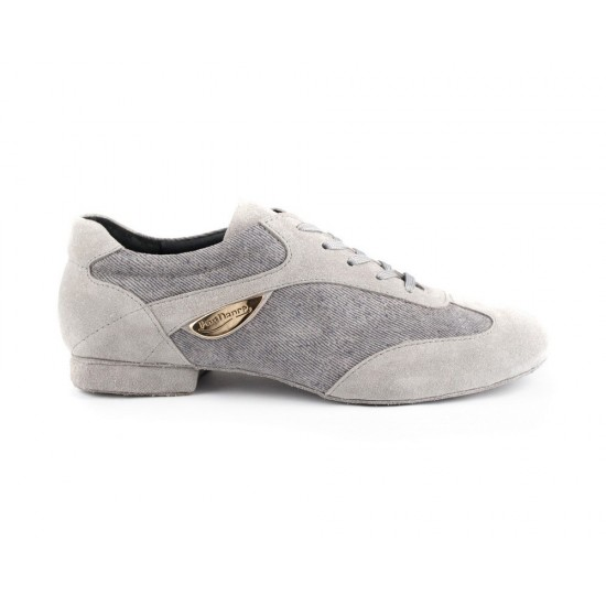 Chaussures Denim PD07 FASHION GREY SUEDE SOLE Portdance