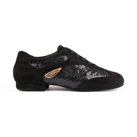 Chaussures PD01 FASHION BLACK NUBUCK AND GLAM SUEDE SOLE...