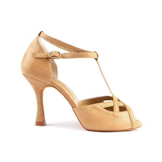 Chaussures Cuir PD505 PREMIUM CAMEL Portdance